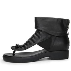 Fashion Soft Leather Low Heels Brand Women Summer Shoes Genuine Leathe– FantasyLinen Womens Summer Shoes, Sheepskin Boots, Low Heels, Leather Sandals, Soft Leather, All Black Sneakers, Black And Brown, Clothes Women, Fashion Clothes