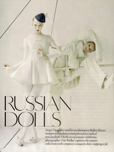 fakingfashion: Vogue UK October 2010 | Russian Dolls | Tim Walker