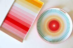 colorful serving trays! (I just got these from Target and I LOVE them!)