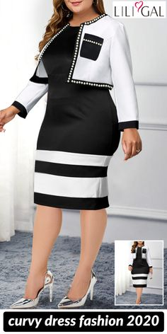 chic plus size dresses for curvy girls~ - Strumpfhosen outfit - Quinoa Recipes Short African Dresses, Latest African Fashion Dresses, Classy Work Outfits, Classy Dress, Plus Size Dresses, Plus Size Outfits, Traditional African Clothing, Fashion Models, Fashion Outfits
