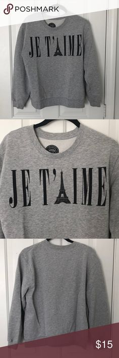 Urban Outfitters French sweatshirt! Super cozy and cute for winter! Urban Outfitters Tops Sweatshirts & Hoodies