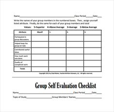 GROUP PROJECT PEER EVALUATION FORM | School | Pinterest | Group ...