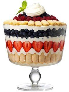 Bowl with Lid by Luigi Bormioli amp; Fruit Trifle Recipe Dessert Trifle Bowl with Lid by Luigi Bormioli amp; Fruit Trifle Recipe / DessertTrifle Bowl with Lid by Luigi Bormioli amp; Fruit Trifle, Köstliche Desserts, Summer Desserts, Fruit Dessert, Strawberry Trifle, Trifle Bowl Desserts, Fruit Parfait, Trifle Dish, Layered Desserts