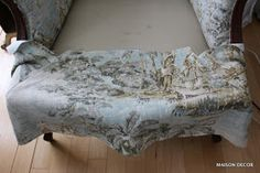 Welcome to my tutorial blog post on how I reupholstered this second hand   French Provincial arm chair. I took lots of photos at some po...