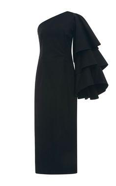 Bidi Bidi Bom Bom Tea Length Dress by ROSIE ASSOULIN Now Available on Moda Operandi