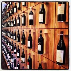 Wine wall. Alba, Italy.