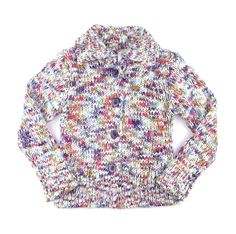 knit sweater for girls, multicolour sweater for girls, cardigan for girls