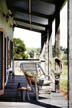 Country Style Magazine. Photography Sharyn Cairns Styling Glen Proebestel #veranda #quietcorner