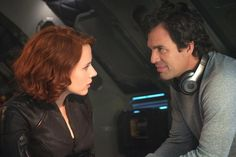 """Natasha Romanoff/Black Widow (Scarlett Johansson, left,) and Bruce Banner/Hulk (Mark Ruffalo) in a scene from the motion picture """"Avengers: Age Of Ultron."""" CREDIT: Jay Maidment, Marvel [Via MerlinFTP Drop] Black Widow Avengers, Black Widow And Hulk, Black Widow Scarlett, Avengers Film, Avengers Cast, Marvel Avengers, Marvel Heroes, Marvel Kids, Avengers Images"""