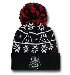 6259561ad3830 The acrylic Star Wars Vader Knit Pom Pom Beanie is created by New Era and  channels the power of Dark Lord of the Sith