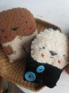 Folk art Rag Animal Dolls Playset by VerukaDollsLand on Etsy