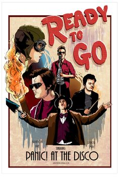 Panic! at the Disco Ready To Go art, Brendon Urie and Spencer Smith, by spencejsmith. Available in her redbubble store