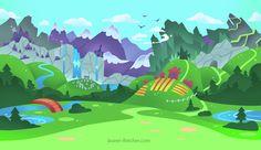 Brave Kingdom Landscape By Lauren Fletcher Logo Design I Digital Art I 2D I Video Game Assets I Graphics I Landscape