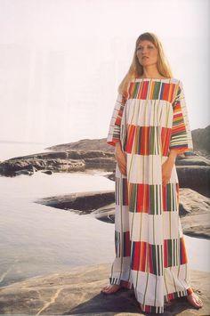 Marimekko Kirjo Pattern 1974, Caftan