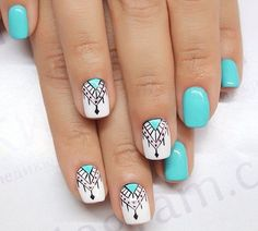 What's an American Manicure? Cute Acrylic Nails, Cute Nails, Pretty Nails, Nail Art Tribal, Gel Nagel Design, Short Nails Art, Nagel Gel, Creative Nails, Manicure And Pedicure