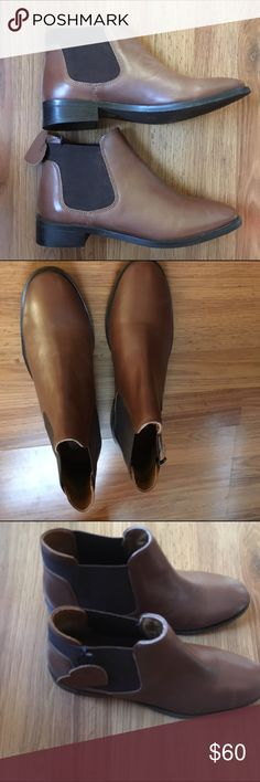 Topshop booties brown size 8.5 cut off boots new New pair of booties from Topshop at Nordstrom, size 8.5 Topshop Shoes Ankle Boots & Booties