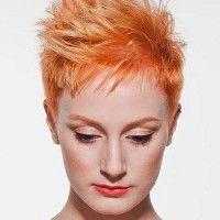 short spiky hair for women