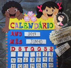 Painel calendário móvel