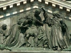 Fragment of west barelief on St.Isaac cathedral - Saint Isaac's Cathedral