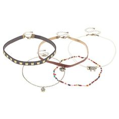Women's Choker Set with Faux Suede and Cord - Multi : Target