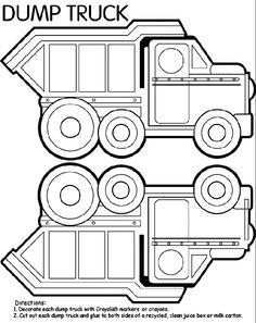 Cartoon Clip Art with a Construction Dump Truck Cutout