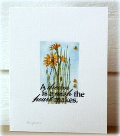 When I grow up, I want to make cards like this one from Birgit. BEAUTIFUL! All stamps are from TechniqueTuesday.com.
