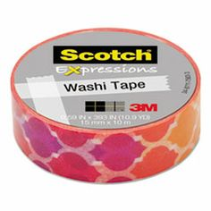 Washi Tape for crafts and scrapbooking purple, orange, yellow