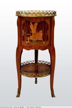"""Petite Table Chiffonnière """"en tambour"""" par Pierre Roussel"""
