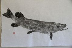 NORTHERN PIKE Original Gyotaku - traditional Japanese fish art by dowaito (2)