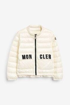 Girls Moncler White Logo Down Padded Jacket -  White Padded Jacket, Moncler, Winter Jackets, Sports, Outdoors, Logo, Girls, Style, Fashion