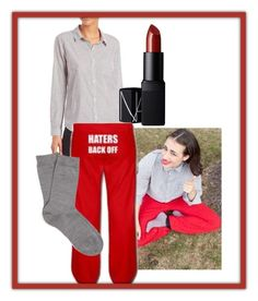 """Miranda Sings"" by rockyblues2371 on Polyvore featuring Rails, NARS Cosmetics and Falke"