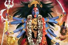 Dussera Navaratri is also celebrated and the goddess is dressed each day as a different Devi, all considered equivalent but another aspect of Durga. Kali Shiva, Kali Hindu, Kali Mata, Shiva Shakti, Indian Goddess Kali, Durga Goddess, Indian Gods, Navratri In Hindi, Navratri Puja