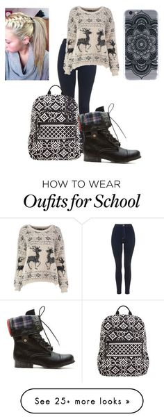 Soon back to school! by charlize100 on Polyvore featuring Topshop and Vera Bradley