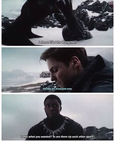 Zemo's words were always so chilling and they were always delivered emotionless. His goal was simple, and to many viewers, seemed very unnecessary. BUT THAT WAS THE POINT. Zemo knew if he could get to Bucky then everything else would quickly follow. He was a disturbed man looking for someone to blame for his pain. He became a terrorist, killing a king and murdering others to get his way. No matter the cost, he wanted revenge. In the end, he felt nothing and wished to die because he knew what…