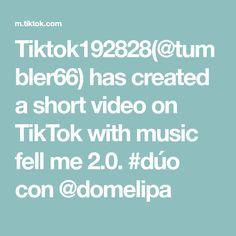 Tiktok192828(@tumbler66) has created a short video on TikTok with music fell me 2.0. #dúo con @domelipa Rainbow Makeup, Tik Tok, Create, Music, Musica, Musik, Muziek, Music Activities, Songs