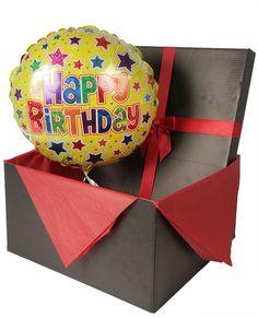 Present with mylar balloon anchored on bottom