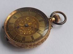 Ladies 14 Carat Gold Pin Set Gilt Dial Open Faced Fob Watch by CarelleWatches on Etsy Pocket Watches, Carat Gold, Lady, Unique Jewelry, Handmade Gifts, Vintage, Kid Craft Gifts, Pocket Watch, Craft Gifts