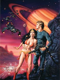 """Dedicated to all things """"geek retro:"""" the science fiction/fantasy/horror fandom of the past including pin up art, novel covers, pulp magazines, and comics. Arte Do Pulp Fiction, Science Fiction Kunst, Science Art, Science Jokes, Easy Science, Preschool Science, Elementary Science, Space Fantasy, Sci Fi Fantasy"""