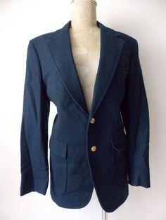 Ending Today!! Customized Blazer Size 40 Regular Costume Wool Vintage 80s Dobbshire Jacket Suit #DobbshireCustomized #TwoButton