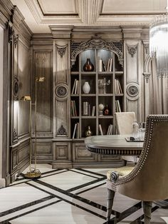 Home Designing — (via Neoclassical And Art Deco Features In Two...
