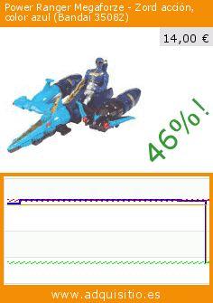 Power Ranger Megaforze - Zord acción, color azul (Bandai 35082) (Juguete). Baja 46%! Precio actual 14,00 €, el precio anterior fue de 25,73 €. https://www.adquisitio.es/power-ranger-megaforze/zord-acci%C3%B3n-color-azul
