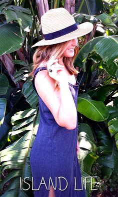 Wide brimmed fedora with a black fabric band and a casual-cool feeling