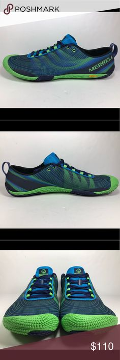 Merrell Men Sz 13 Vapor Glove 2 Trail Running Shoe New Without Box See Picture For Details. Merrell Men Sz 13 Vapor Glove 2 Trail Running Shoe In Racer Blue & Bright Blue. S556 Merrell Shoes Athletic Shoes