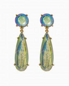 Iridescent Snakeskin Earrings