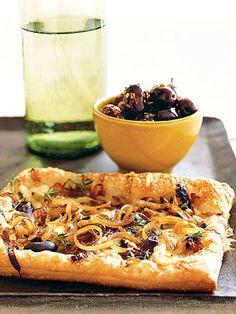 Caramelized-Onion and Gruyere Tarts