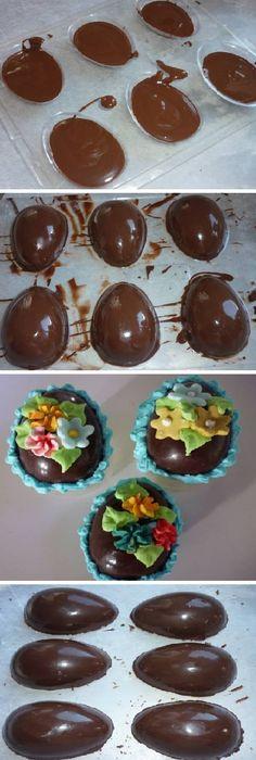 Estos Huevos de chocolate caseros son infaltables en la mesa del domingo de pascua.  #pascua #semanasanta #huevos #huevosdepascua #artísticos #paravender #niños #kids #buttercream #rabbit #easter #eggs #hunt #marshmallow #happy #happyeaster #easter #eastereggs #oreo #galletas #facil #vainilla #postres #receta #recipe #casero #torta #tartas #pastel #nestlecocina #bizcocho #bizcochuelo #tasty #cocina #chocolate #pan #panes #resurrección #resurrection #JesusChrist  MIREN...