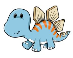 Cute Cartoon Dinosaurs | Cartoon Baby Blue Dinosaur : Custom Wall Decals, Wall Decal Art, and ...