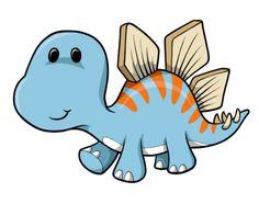Cute Cartoon Dinosaurs | Cartoon Baby Blue Dinosaur : Custom Wall Decals, Wall Decal Art, and ...