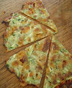 Zucchini Cheese Wedges...low carb, high protein.....replacement for chips????