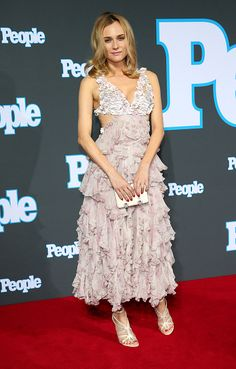At the People Magazine Germany launch party in Berlin wearing Alexander McQueen.